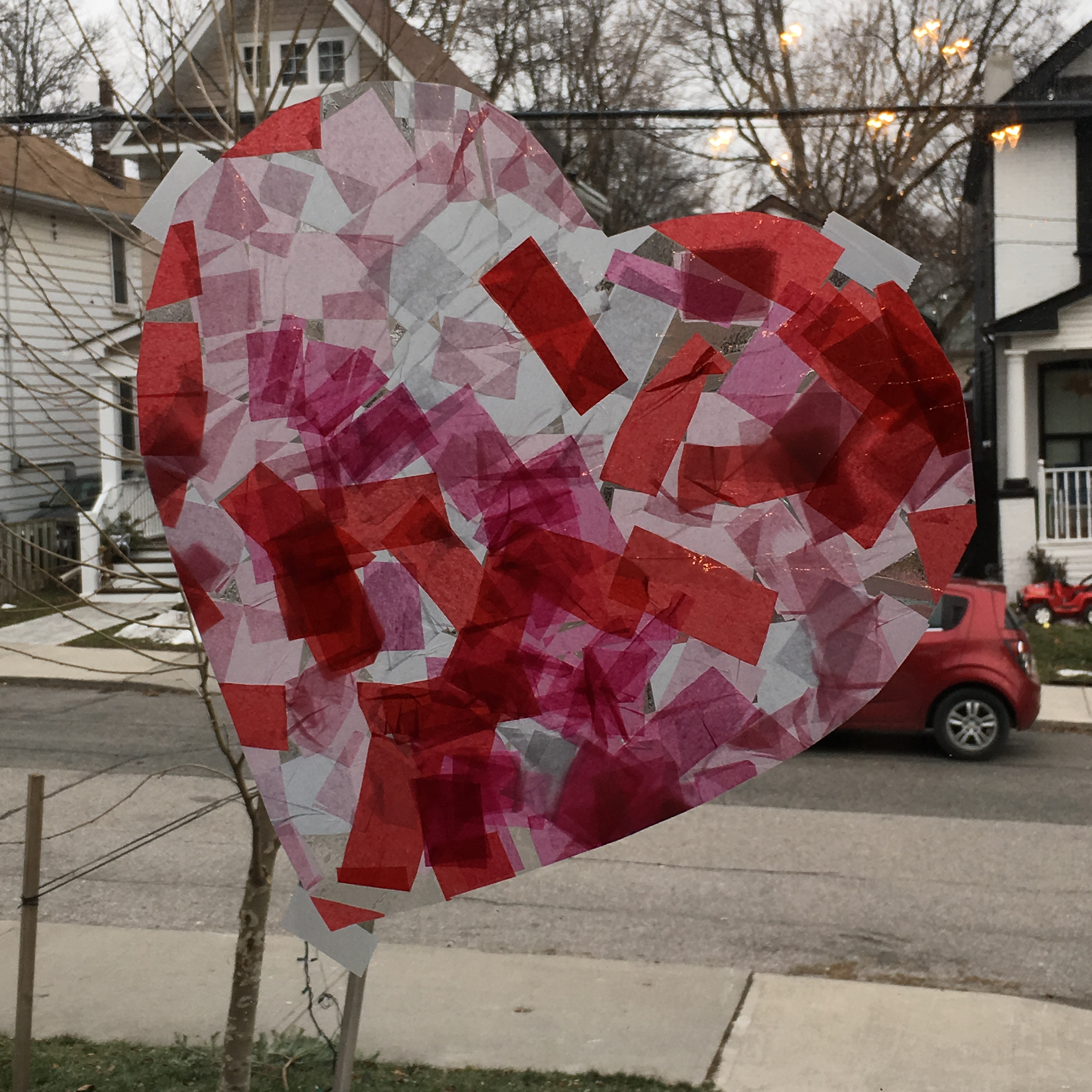 Valentine's Day Stained Glass Toddler Craft from The Inspired Home