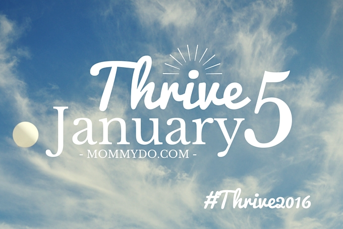 Thrive 5 January #thrive2016